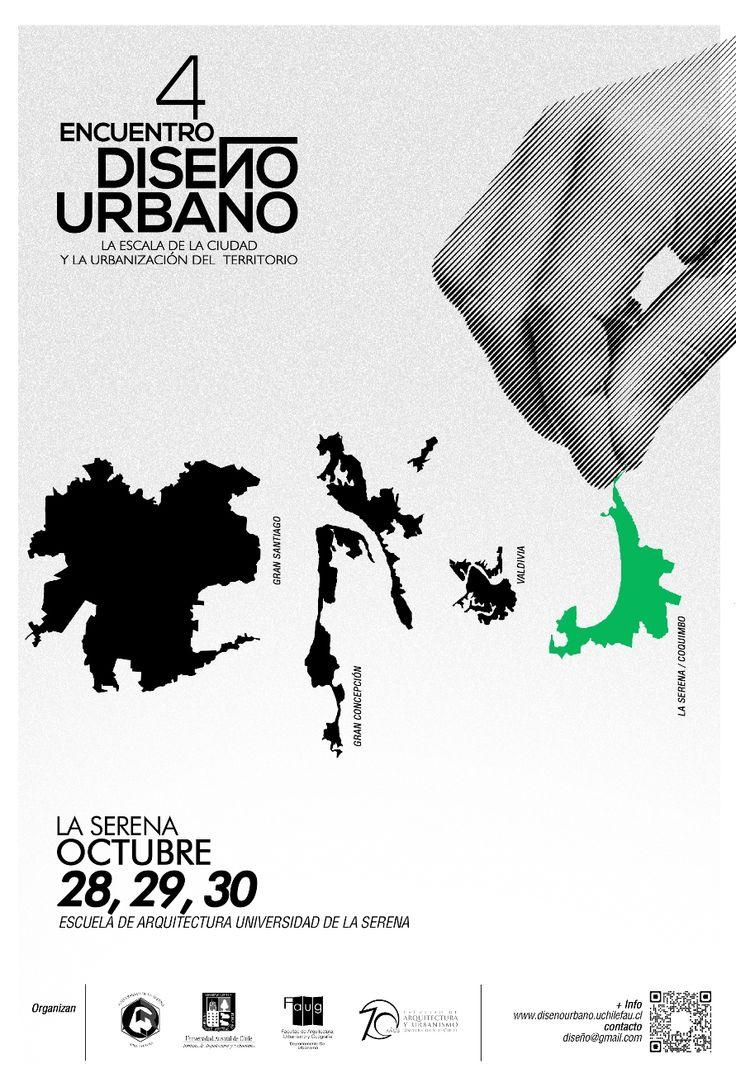#poster #arquitectura #architecture #graphic Encuentro de diseño urbano, afiche 2014