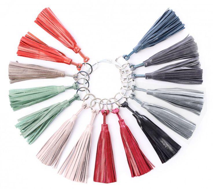 """Schlüsselanhänger """"tassel"""" aus Ledern vielen verschiedenen Farben"""