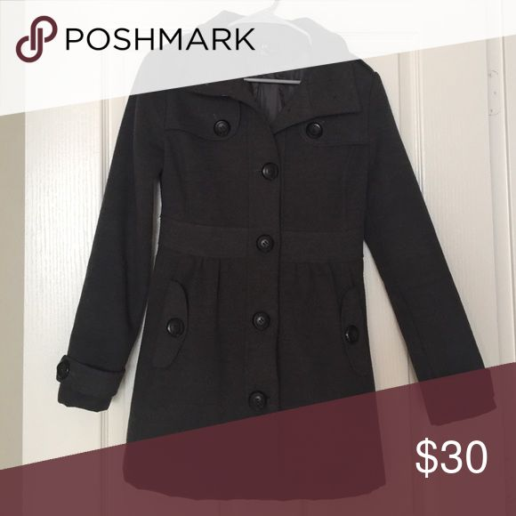 Gray Peacoat Gray peacoat, inside is polyester Jackets & Coats Pea Coats