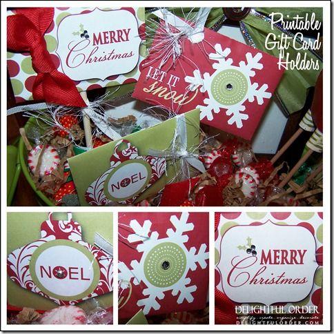 Delightful Order: Printable Gift Card Holder (Gift Ideas)