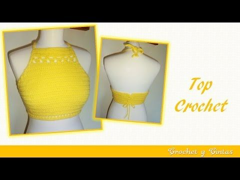 Halter top crochet / Tutorial en español | Crochet y Dos agujas - Patrones de tejido