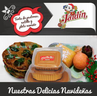 Platos navideños > torta de pastores, natilla y buñuelos.