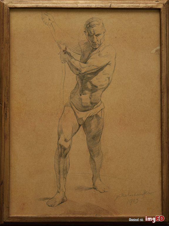 Jacek malczewski szkic rysunek