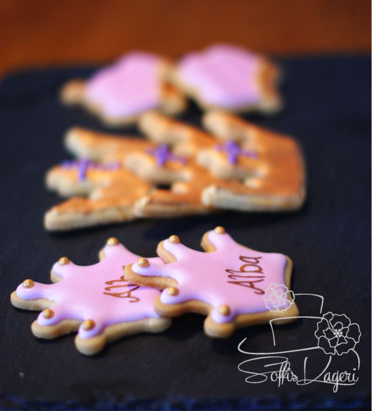 Princess crown sugar cookies Soffi's Kageri