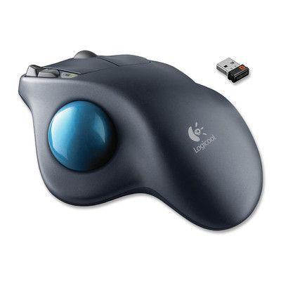 Logitech Wireless Trackball Mouse with Scroll Wheel