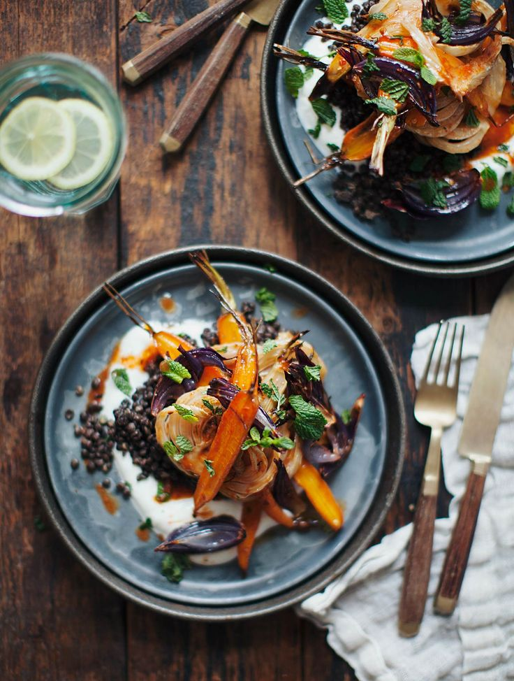 Harissa Carrots and Fennel with Lentils | My New Roots | Bloglovin'
