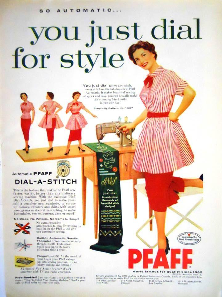 Pfaff Dial-a-Stitch Vintage Ad