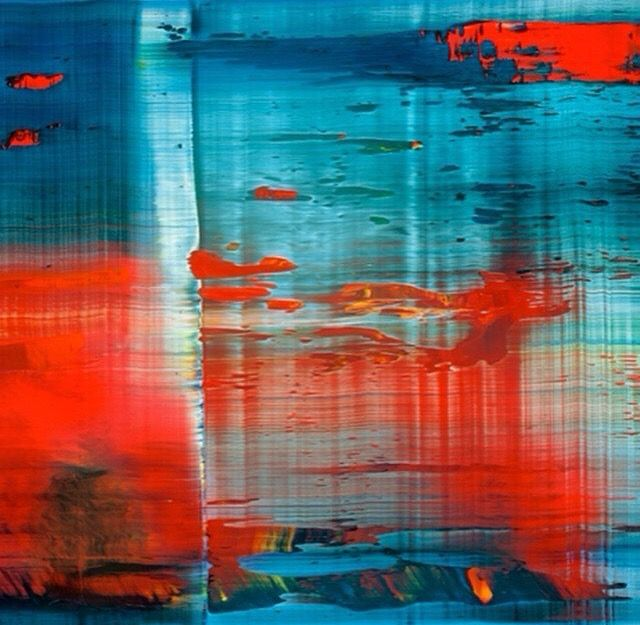 Gerhard Richter I like the colors in this and the way the colors are thicker on the left and then they mix together more