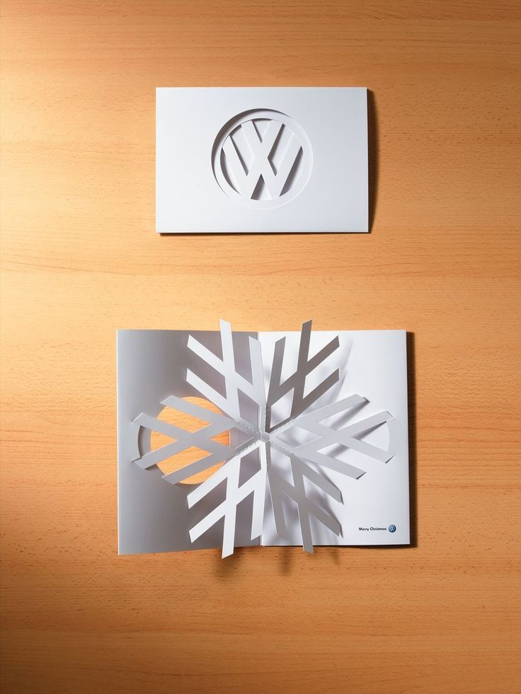 Volkswagen's 2006 pop-up Christmas Card is a brilliant direct marketing design. The card gives their audience a beautifully surprising experience.