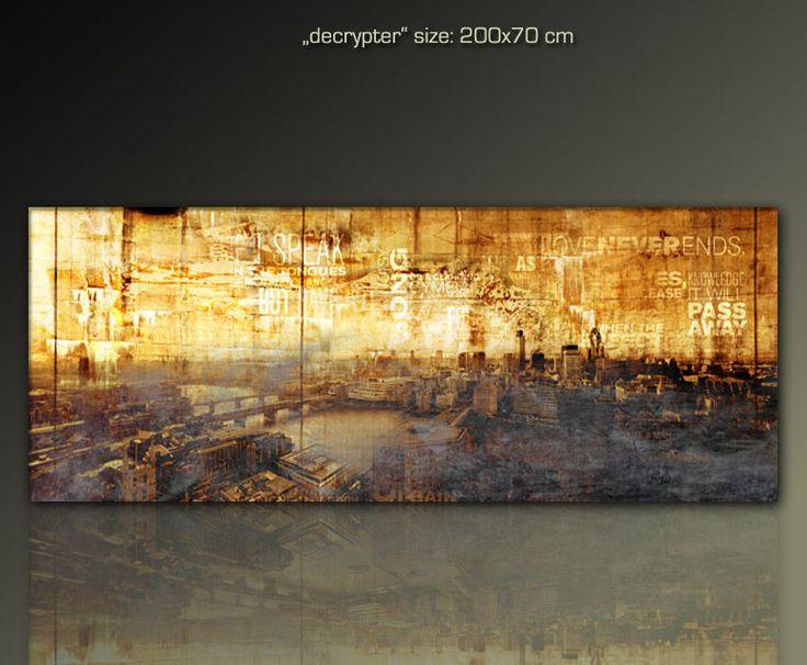 details zu paul sinus moderne bilder malerei 200x70 cm 4 cm tief - Moderne Bder