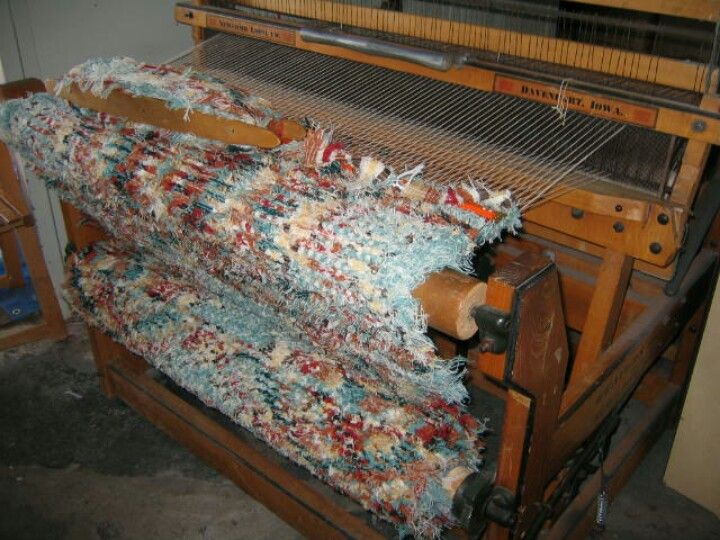how to start weaving a rag rug on a loom