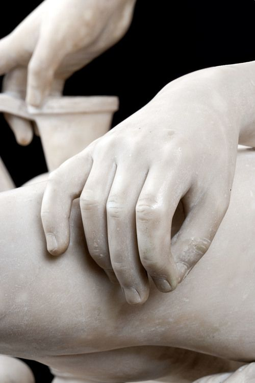Caselli Detail Hands. LODOVICO CASELLI (Siena 1817 – post 1862) Hagar and Ishmael