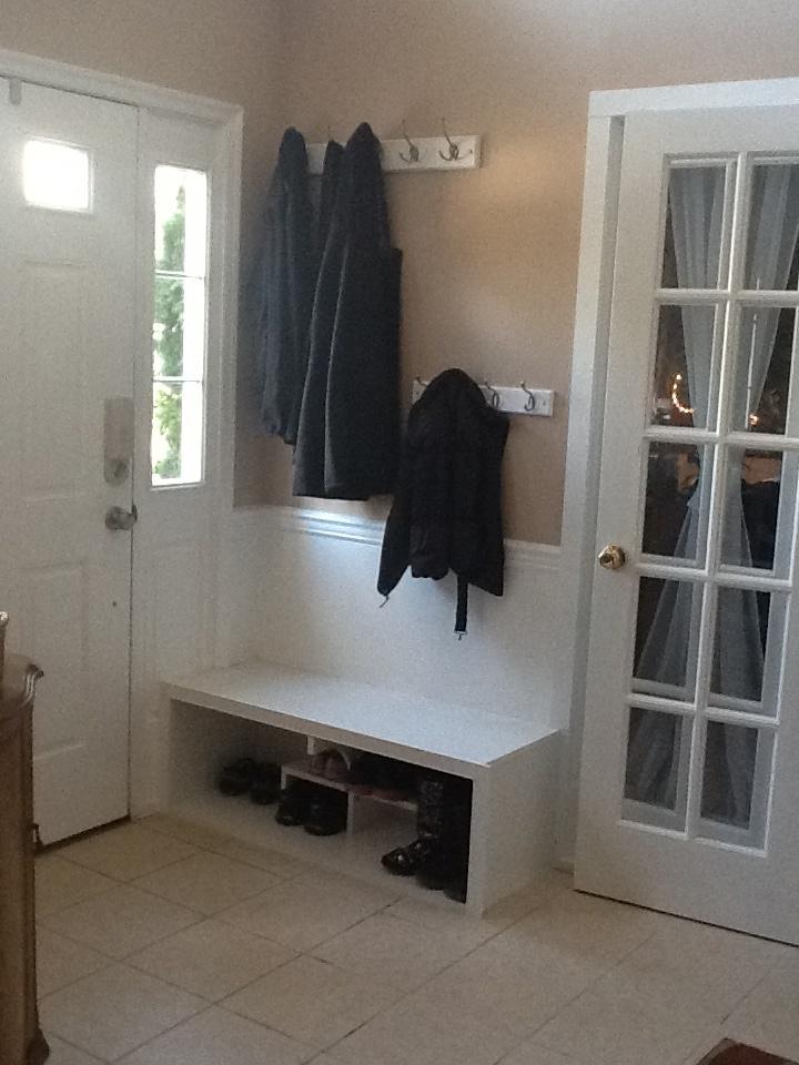 Coat Rack Shoe Organizer Hallway Storage Pinterest