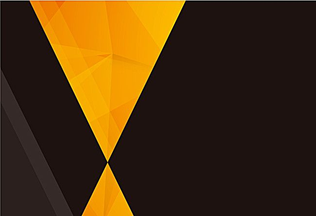 Yellow Triangle Geometric Black Background In 2020 Black