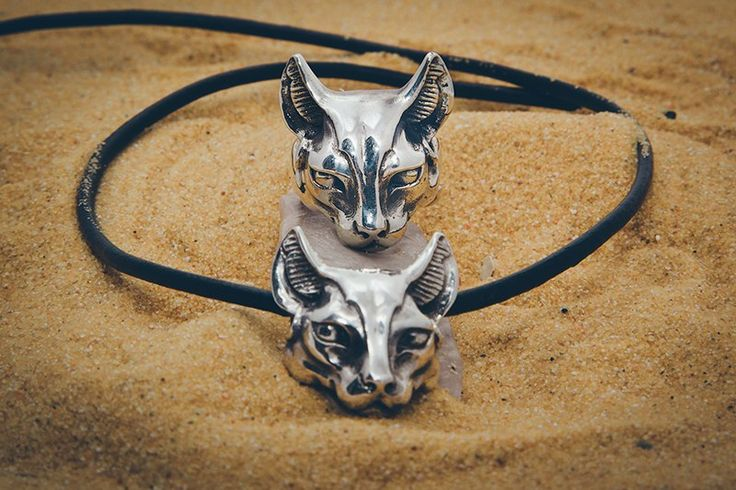 "Silver ring and pendant ""Bastet"""