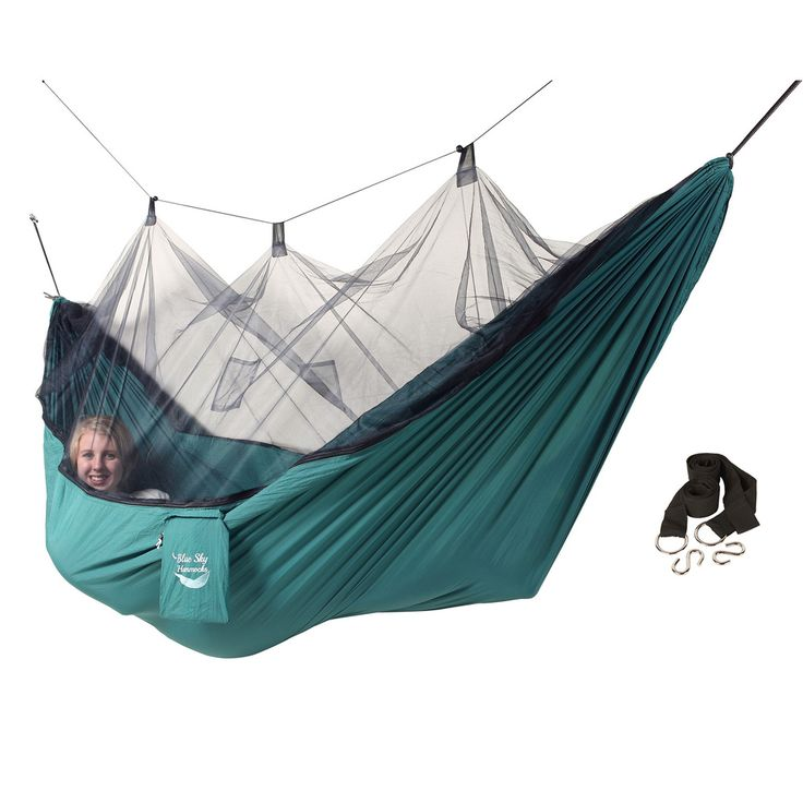 I think this could be perfect for a warm weather back packing over-nighter. Blue Sky Hammocks Mosquito Net Hammock | Overstock.com