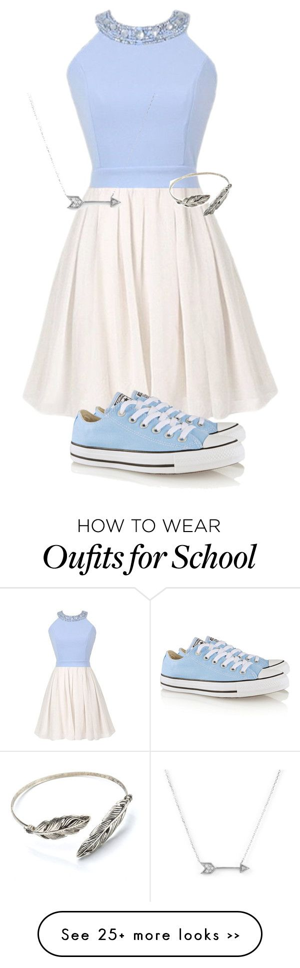 """School"" by addiegirl15 on Polyvore featuring Converse and Adina Reyter"