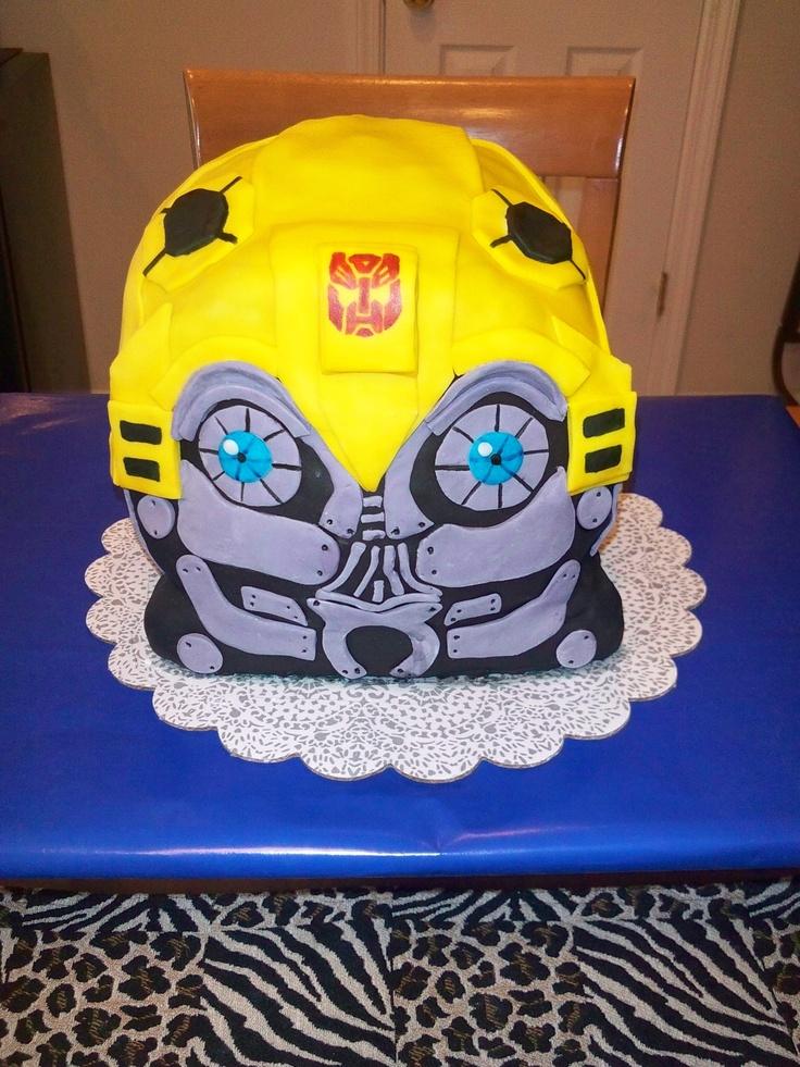 Bumblebee Transformer Cupcake Cake
