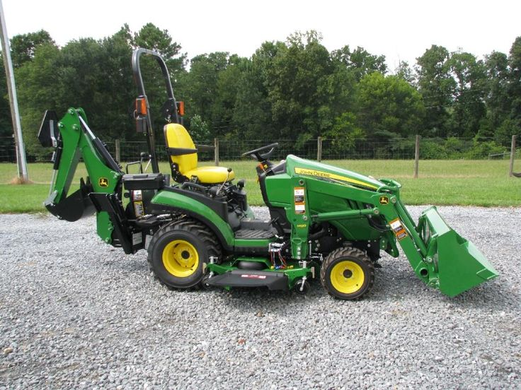 Used Garden Tractor Loaders : John deere r with front end loader and backhoe