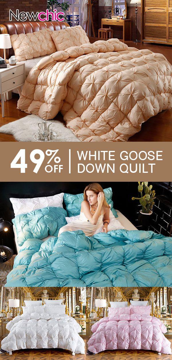 49 Off White Goose Down Quilt Large Comforter Duvet Blanket Winter Full Queen King Size Bedding Beddingset Homede Down Quilt Duvet Comforters King Size Bed