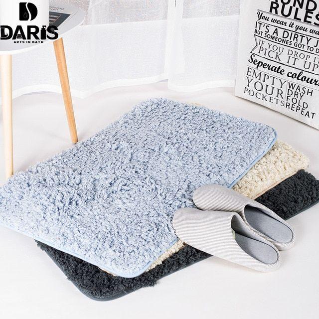 Daris Dry Faster Microfiber Bath Mat Toilet Mat Bedroom Carpet Bath Mats Bathroom Set Comfortable Kitchen Bed Bedroom Carpet Bath Floor Mats Living Room Carpet