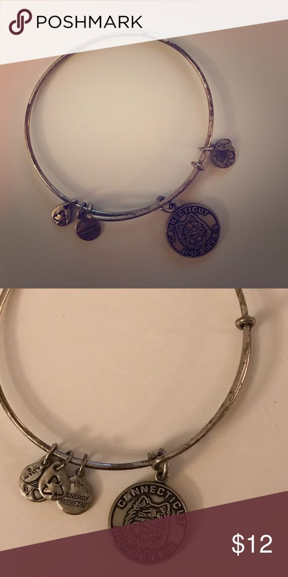 Alex&Ani UConn bangle University of Connecticut Alex&Ani bangle. Part of bracelet is worn as seen in picture Alex & Ani Jewelry Bracelets