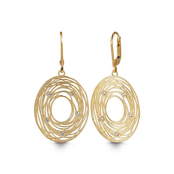 Italian Gold Bird Nest Dangling Earrings $435.00