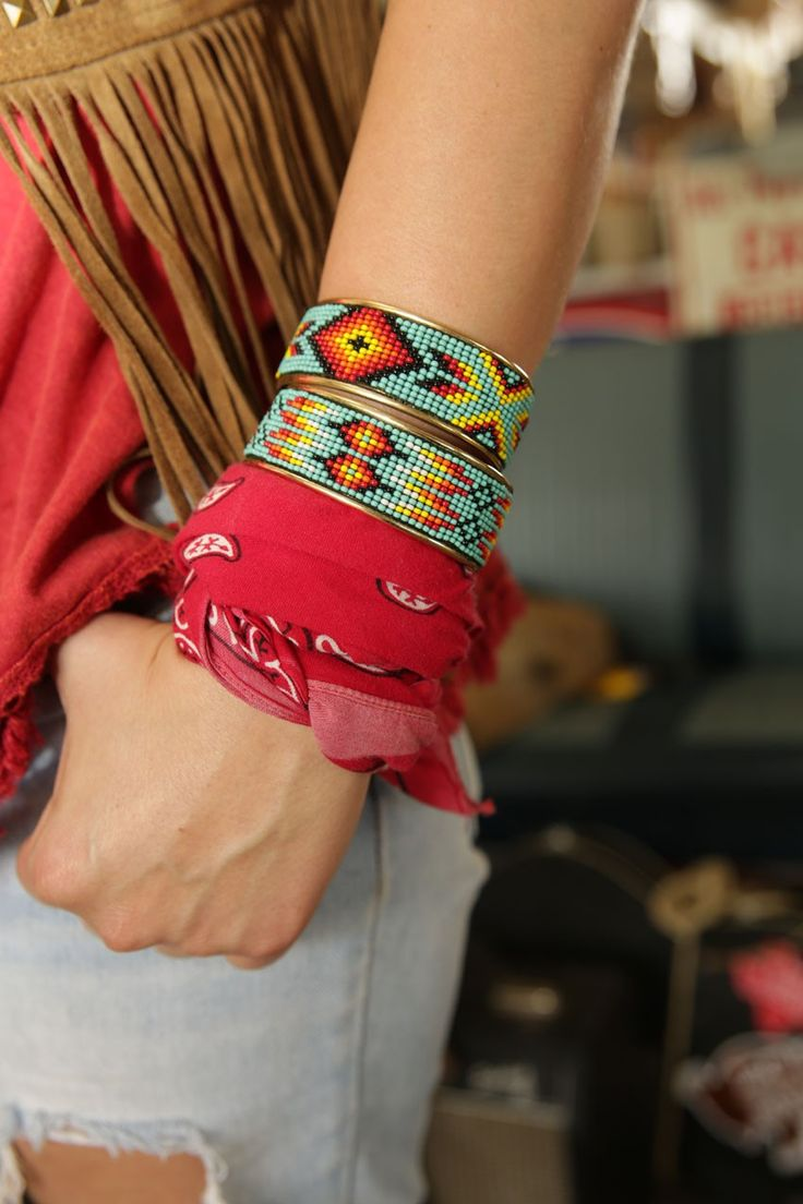 EL MERCADO BEADED CUFF - Junk GYpSy co.