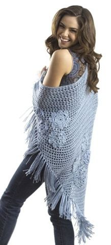 Crochet shawl free pattern, plus more flower themed patterns