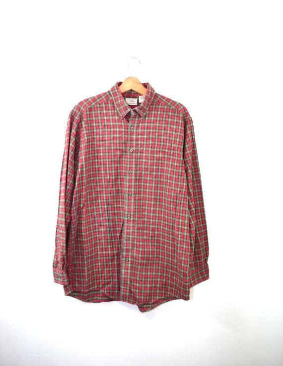 Flannel Shirt LL Bean Flannel Shirt Plaid by founditinatlanta