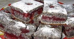 Šťavnatý makovo čerešňový koláč - Receptik.sk
