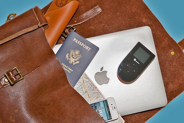 A Skyroam mobile internet hotspot. Lets you get unlimited internet access wherever you go. 40+ Gift Ideas for Travelers