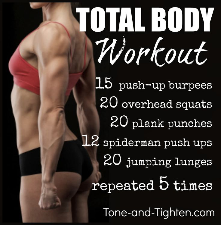 5 essential moves for a complete, total-body workout. www.Tone-and-Tighten.com
