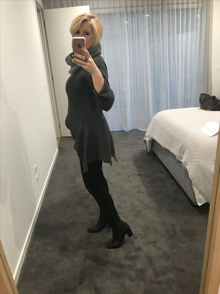 """As you know I love jumpers with different lengths.  I purchased this one of my favourite boutiques """"Intrigue On Rose"""" yesterday.  Worn with my fav snood from Luxe Fashion and Witchery jeans."""