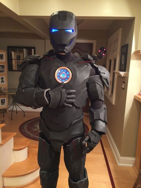 Iron Man Suit: costume build attempt using foam flooring from Home Depot. Instrucables