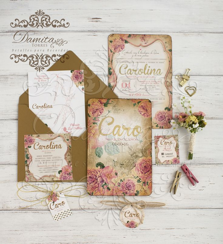 Invitation gold, fifteen, invitation foil, invitation fifteen, sweet fifteen Gold, shabby chic