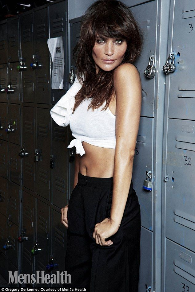 Don't sweat it! Helena Christensen showed off her killer abs as she becomes the first solo female star to grace the cover of Men's Health magazine