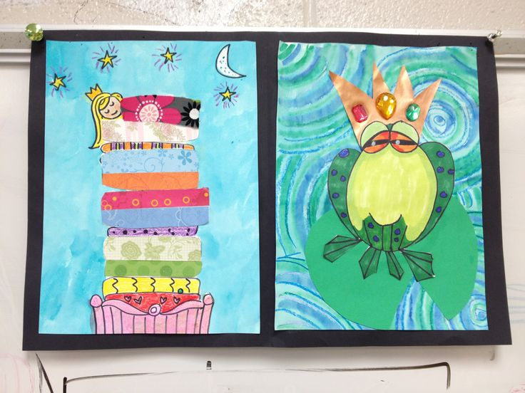 Storybook Art The Princess And The Pea And The Frog