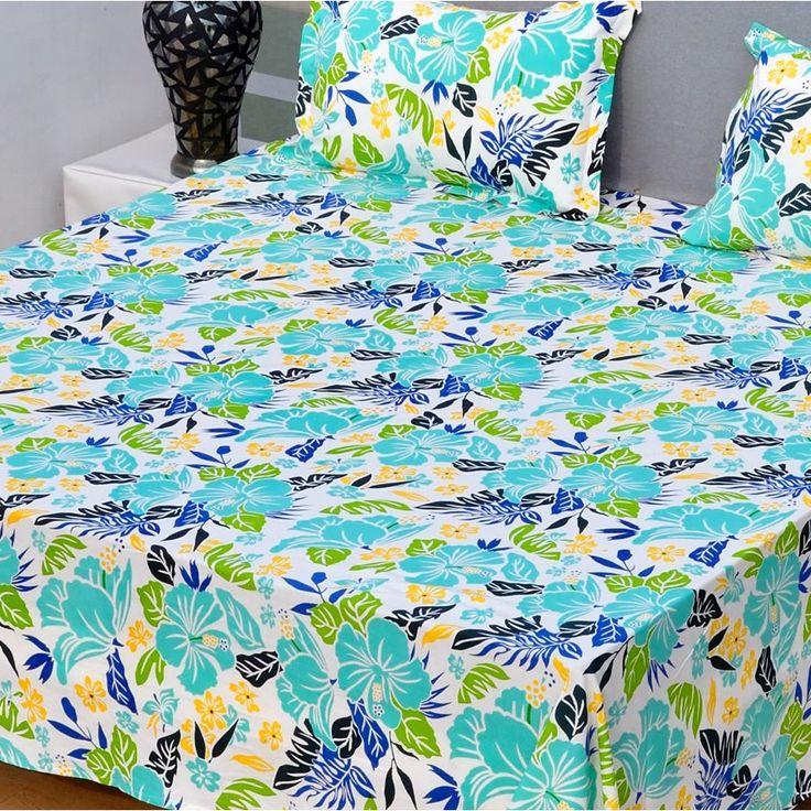 Leaf Collage Bedsheet - Elegant Bed Sheets - BEDDING