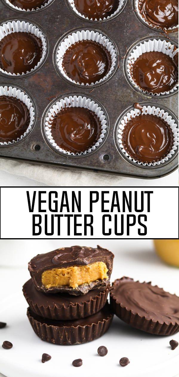 Vegan Peanut Butter Cups Recipe Vegan Peanut Butter Cups Vegan Dessert Recipes Peanut Butter Cups