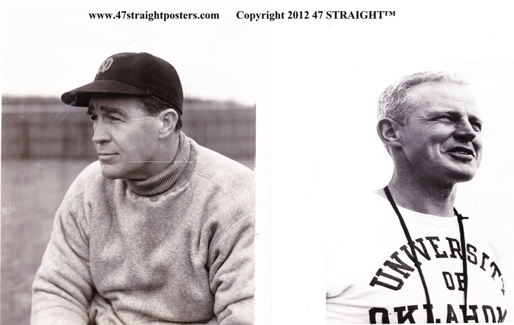 Bud Wilkinson and Frank Leahy.Two of the greatest coaches in college football history! #47straight #football