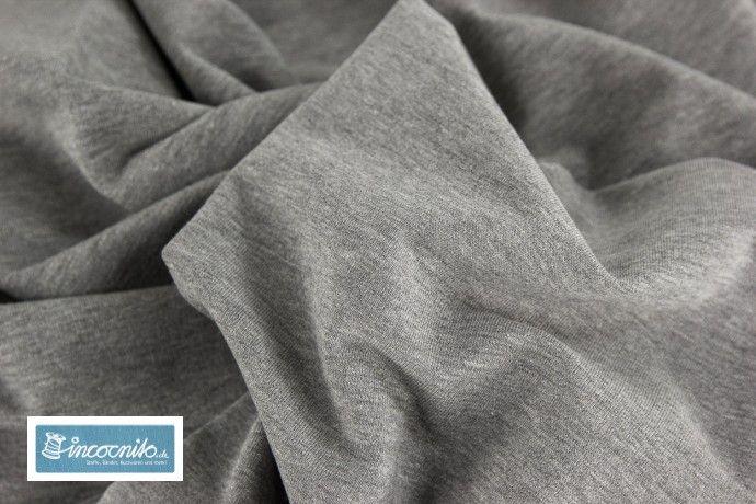 Baumwollmischungen - Sommersweat French Terry Maike 1285 anthrazit mel. - ein Designerstück von incocnito bei DaWanda