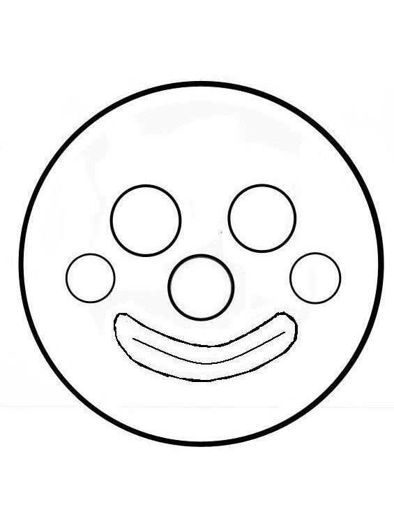 Tête de clown avec assiette en carton2 gabarit1