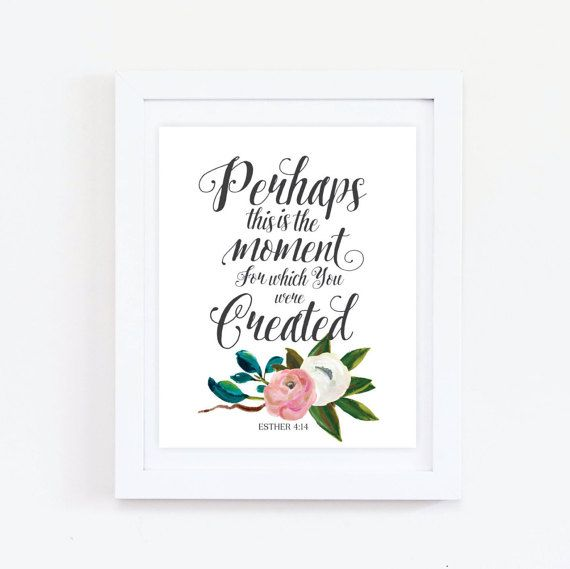 42 best bible quote images on pinterest bible quotes bible bible verse printable esther 414 instant download wall art print fandeluxe Images