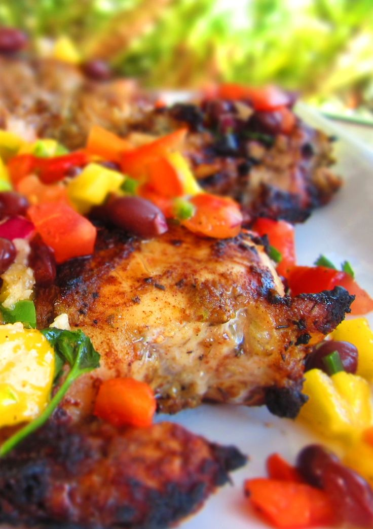 Jerk chicken with Mango salsa. Can't wait for dinner tomorrow!