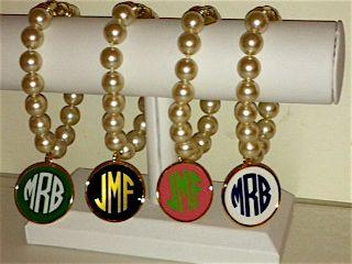 wimberly pearl monogrammed bracelets