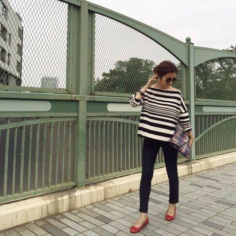 Today's Outfit♡ボーダーコーデ の画像|Sayakaオフィシャルブログ「Sayaka's Diary」Powered by Ameba