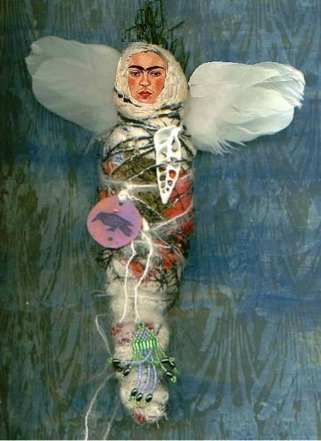 Frida Kahlo ~ the angelic butterfly of creativity and passion that breathes outside of the box!   Julie.