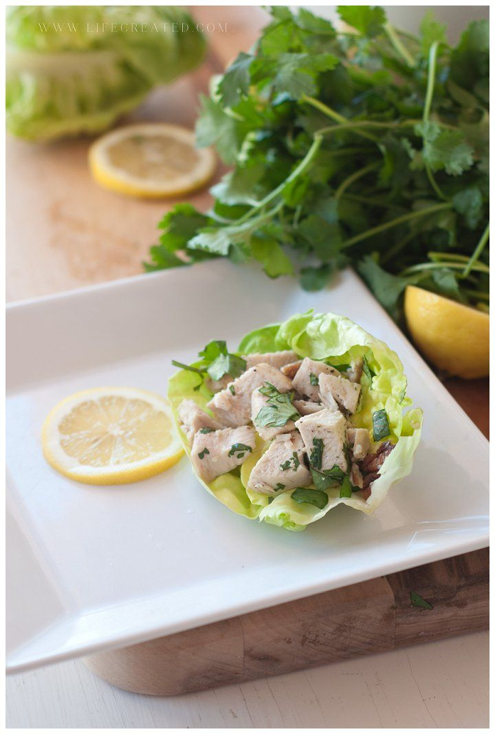 Agave Chicken Lettuce Wraps a light and easy weeknight meal from #whipperberry creative team member @Stephanie