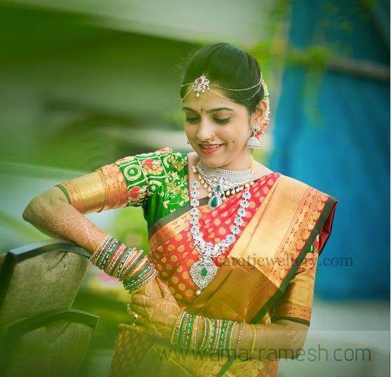 Marvelous Bride in Rich Diamond Jewellery   Jewellery Designs